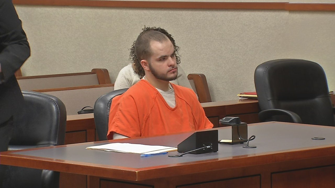 Tyler Morgan at his sentencing hearing on Dec. 19, 2017.