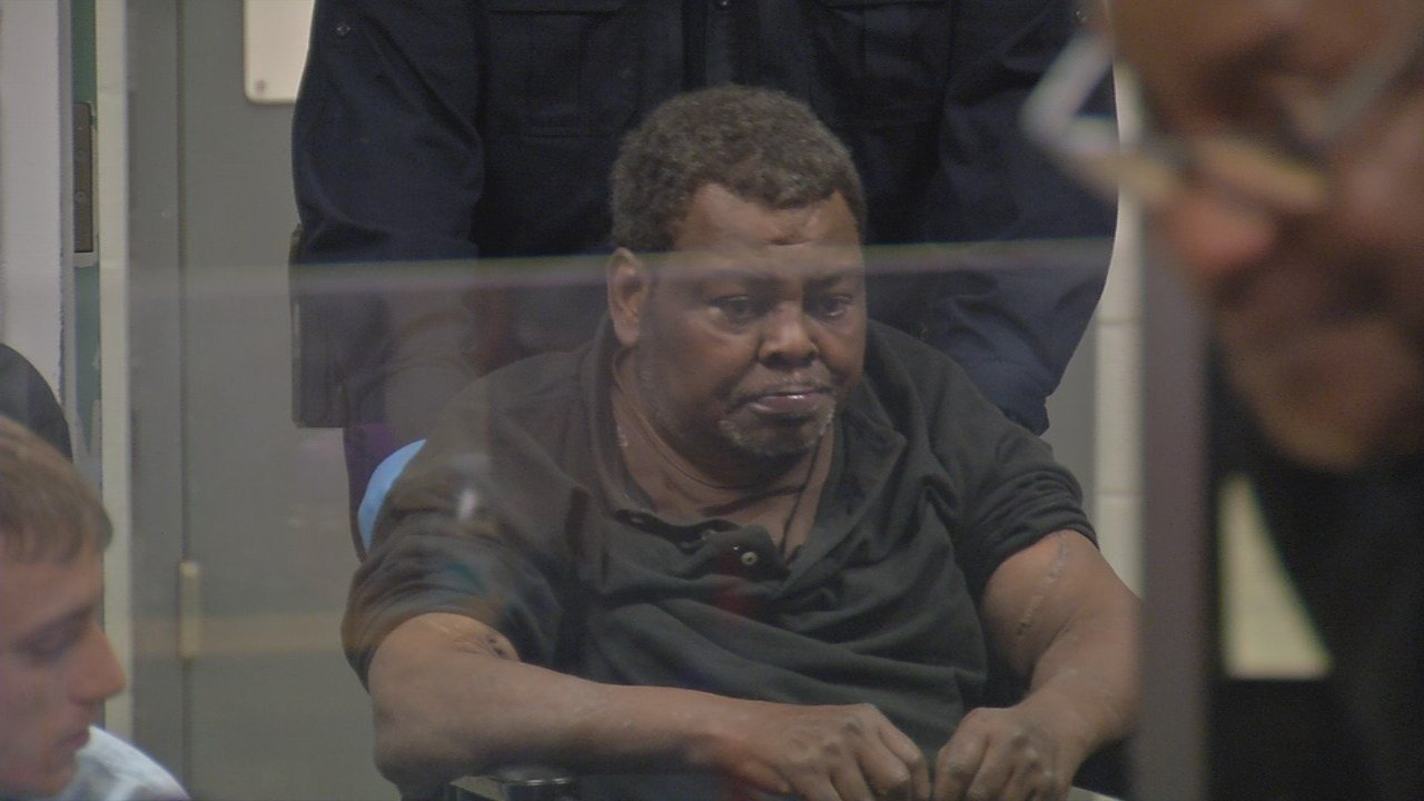 Vincent Simmons appears at an arraignment on Dec. 20, 2017.