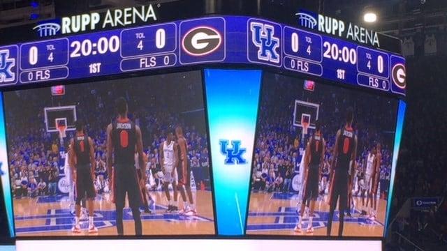 Kentucky won its SEC opener against Georgia Sunday night.