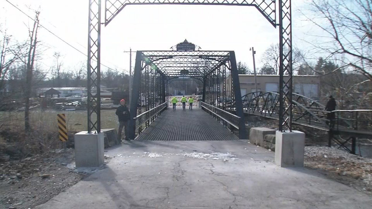 After two years and lots of work, a historic bridge in southern Indiana is back open.