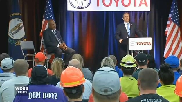 Gov. Matt Bevin at Toyota's Georgetown, Ky. plant in April 2017