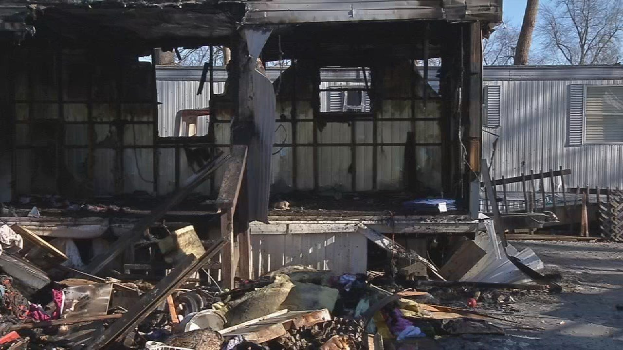 Fire officials say a fire that destroyed a mobile home on Taylor Blvd. on Jan. 5, 2018, was caused by a stove top being used to heat the home.