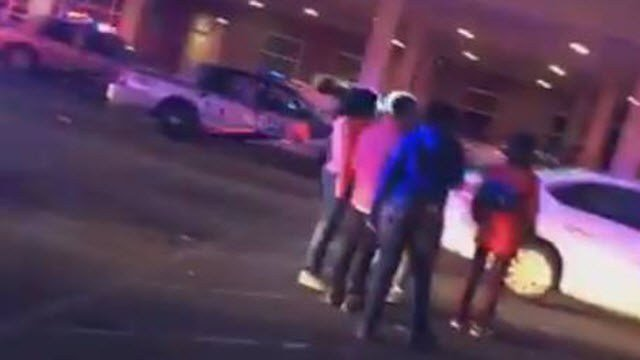 A still frame from a cell phone video of an incident involving hundreds of teens at Altitude Trampoline Park on Jan. 6, 2018.