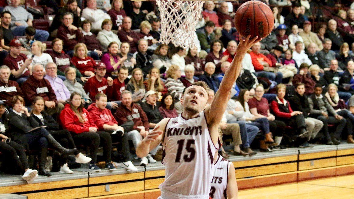Bellarmine's Brent Bach turned in a career-high 28 points to lead the Knights past USI Monday night. (WDRB photo by Eric Crawford)