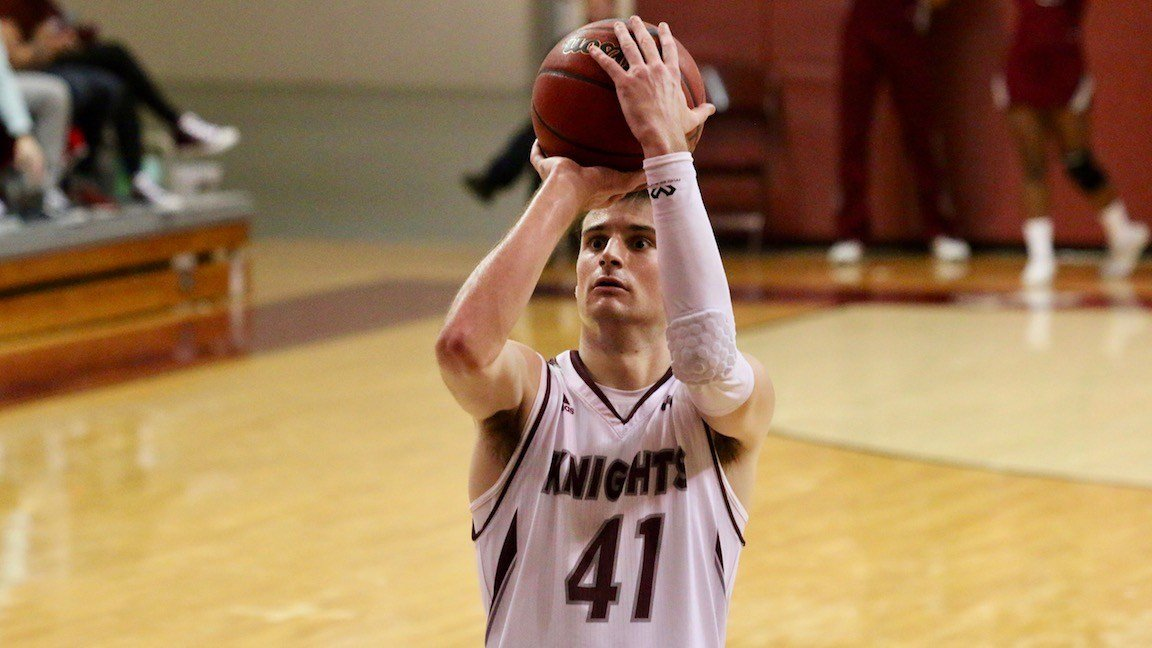 Bellarmine's Adam Eberhard finished two assists shy of a triple-double Monday night. (WDRB photo by Eric Crawford)