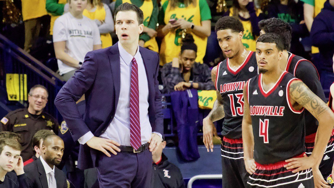 David Padgett with Ray Spalding and Quentin Snider. (WDRB photo by Eric Crawford)