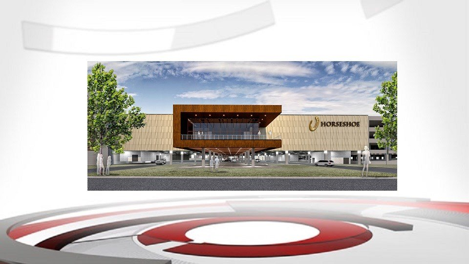 A rendering depicting the expansion of Horseshoe Casino in Elizabeth, Indiana.