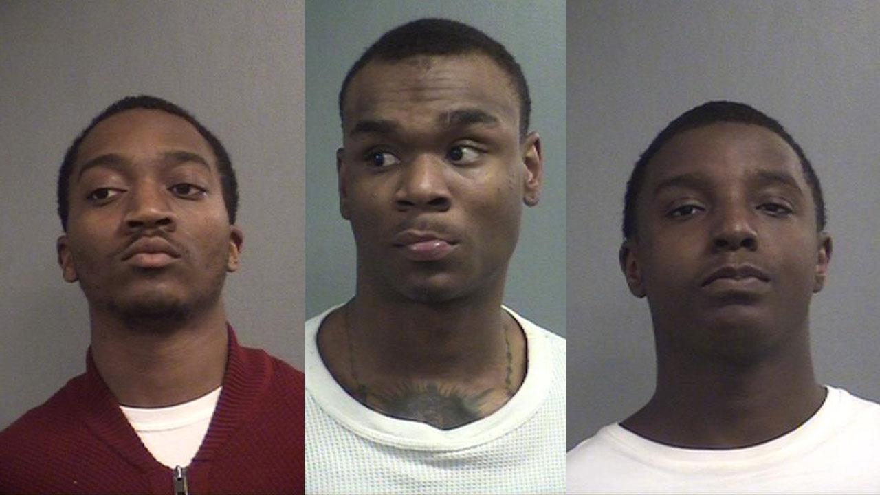 Jamal Tyreik, Jaylin Ray and Kedar Thompson (Source: Louisville Metro Corrections)