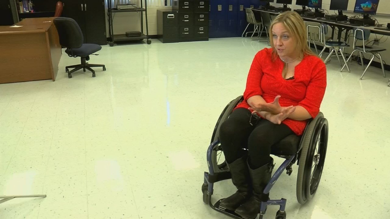 Missy Jenkins Smith was paralyzed from the waist down after a mass shooting that killed three students at Heath High School in Paducah, Kentucky in 1997.