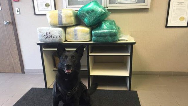 ISP K-9 discovers 120 pound of marijuana during traffic stop