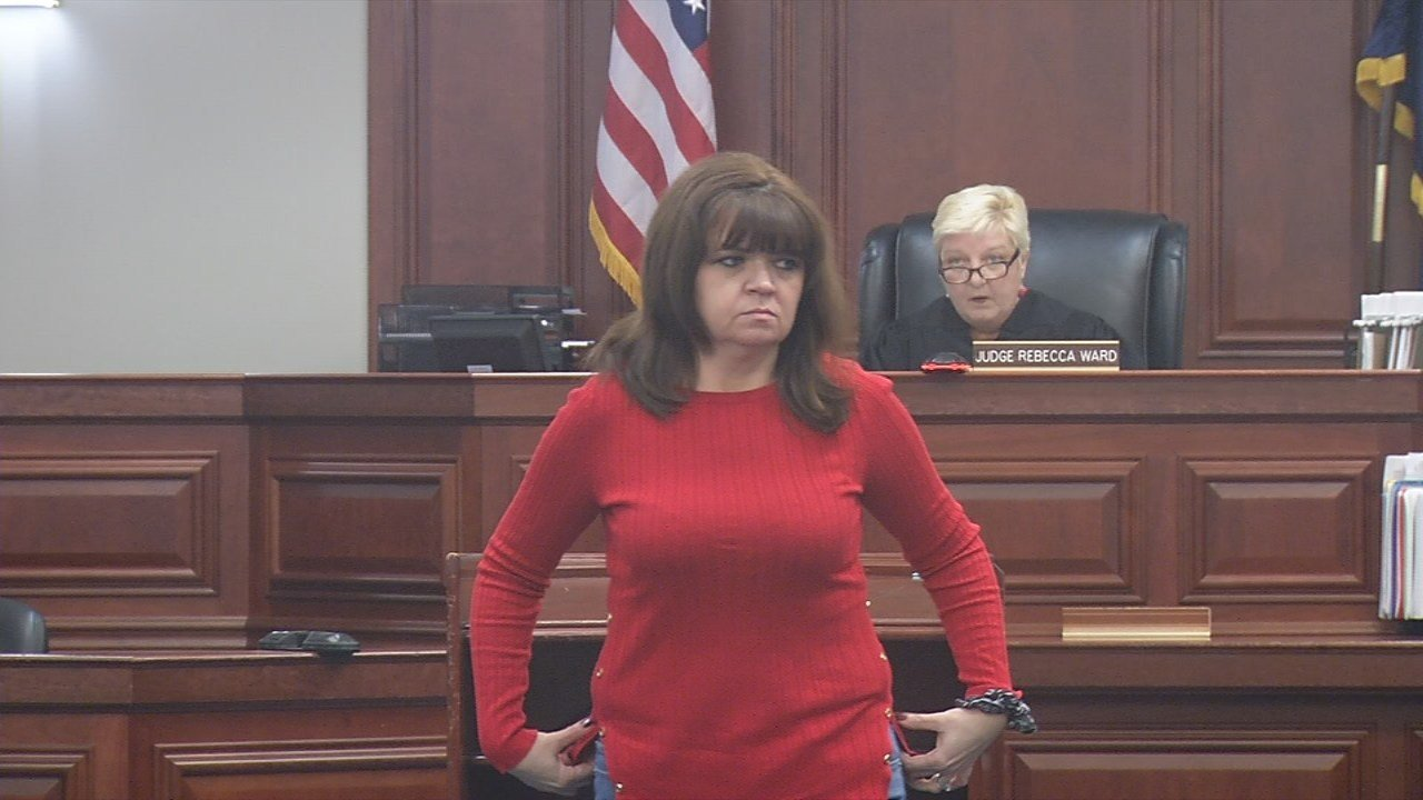 Candi Fluhr appearedin court Tuesday morning.