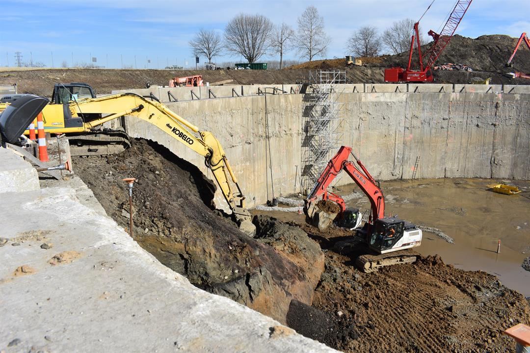 Construction on a $24 million, 7.5-million-gallon Portland Basin
