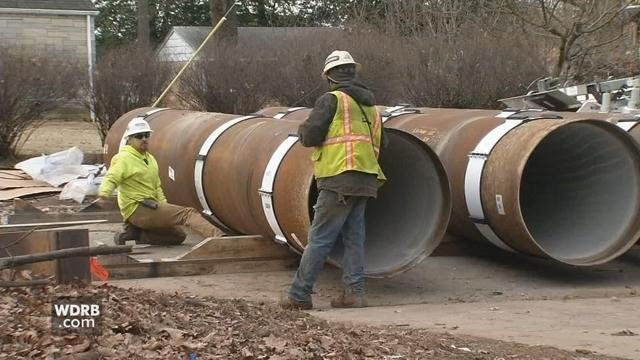 """Crews repairing one of Louisville's oldest water mains are able to make repairs without closing streets thanks to a process called """"slip-lining."""""""