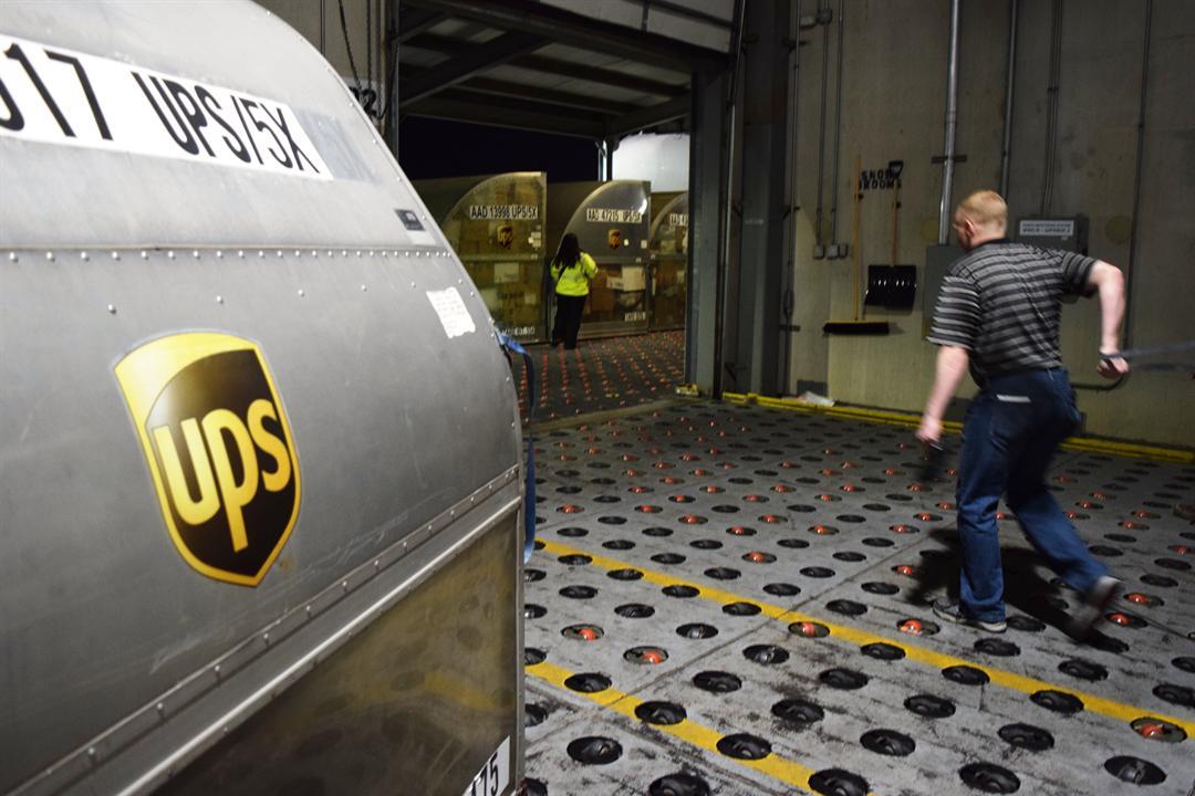 UPS Worldport in Louisville, December 2017