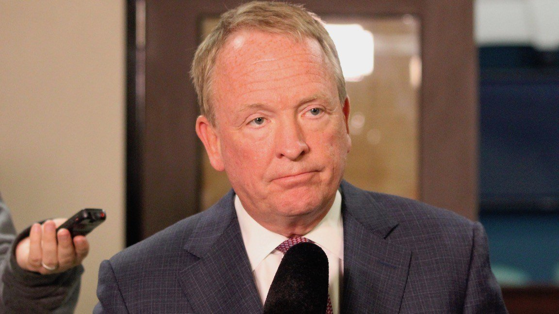 Dr. Greg Postel, University of Louisville interim president. (WDRB photo by Eric Crawford)