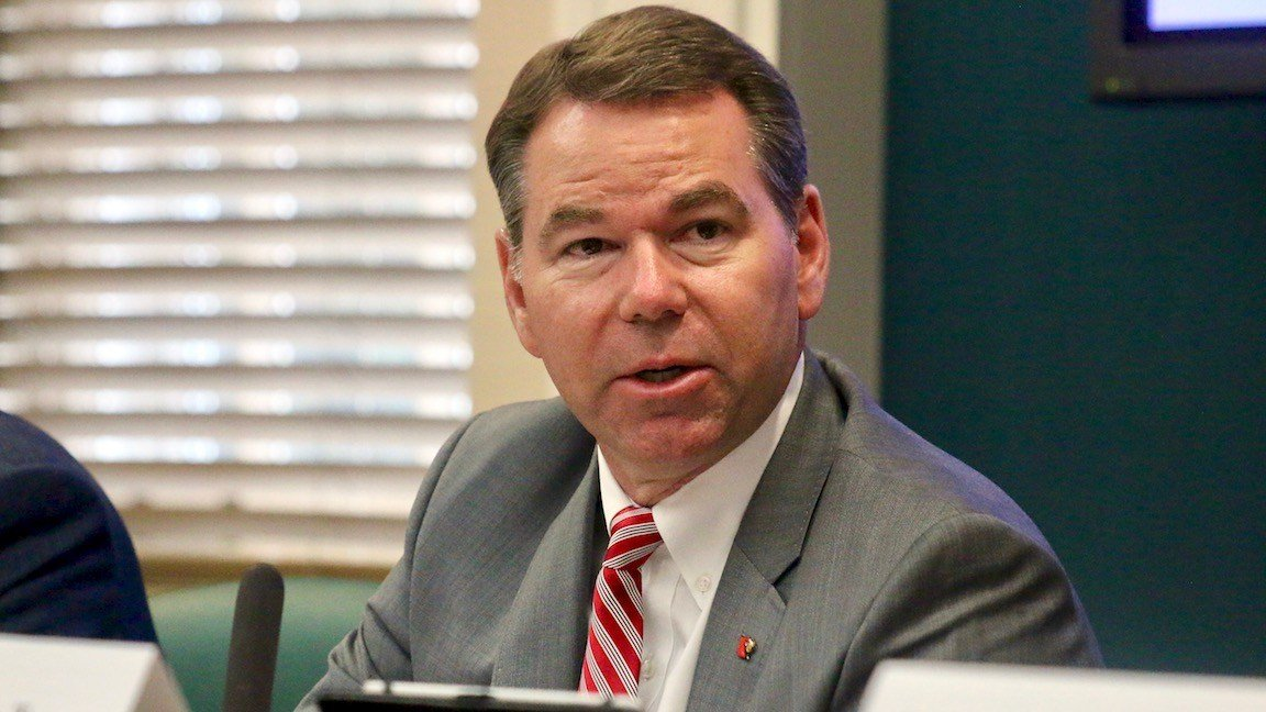 Louisville interim athletic director Vince Tyra. (WDRB photo by Eric Crawford)