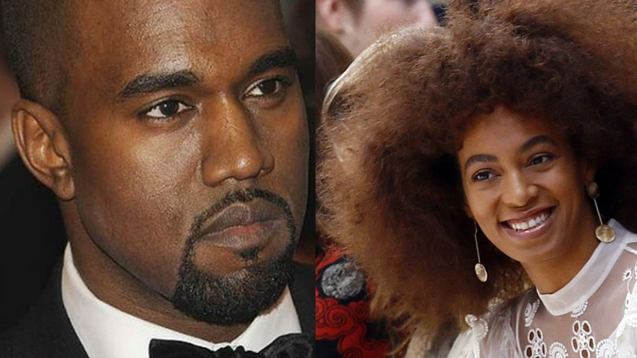 Kanye West and Solange Knowles