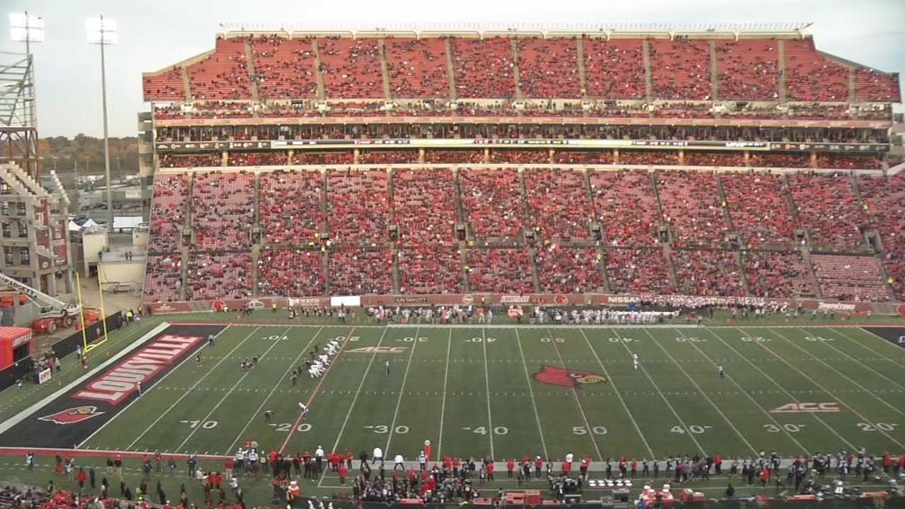 Louisville's game against Virigina on Nov. 11, 2017. Scanned-ticket attendance was 31,893.