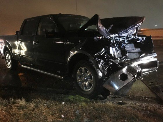 While standing outside the car, Monroe and Jackson were hit by a Ford F-150 when it drove onto the emergency shoulder, throwing one of the victims into the center lane of I-70. (Photo provided by Indiana State Police)