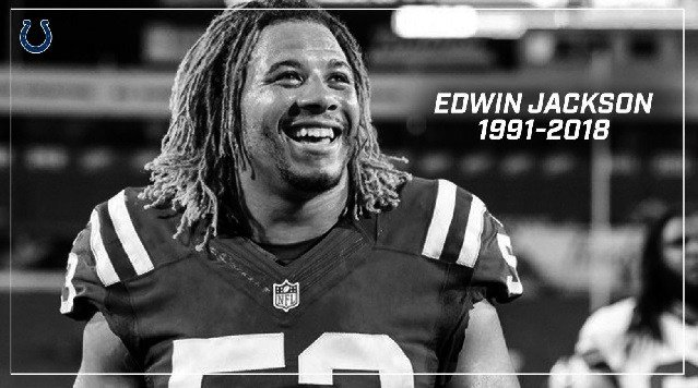 Edwin Jackson, 26, died on Feb. 4 after he was struck by an alleged drunk driver on Interstate 70 in Indiana.
