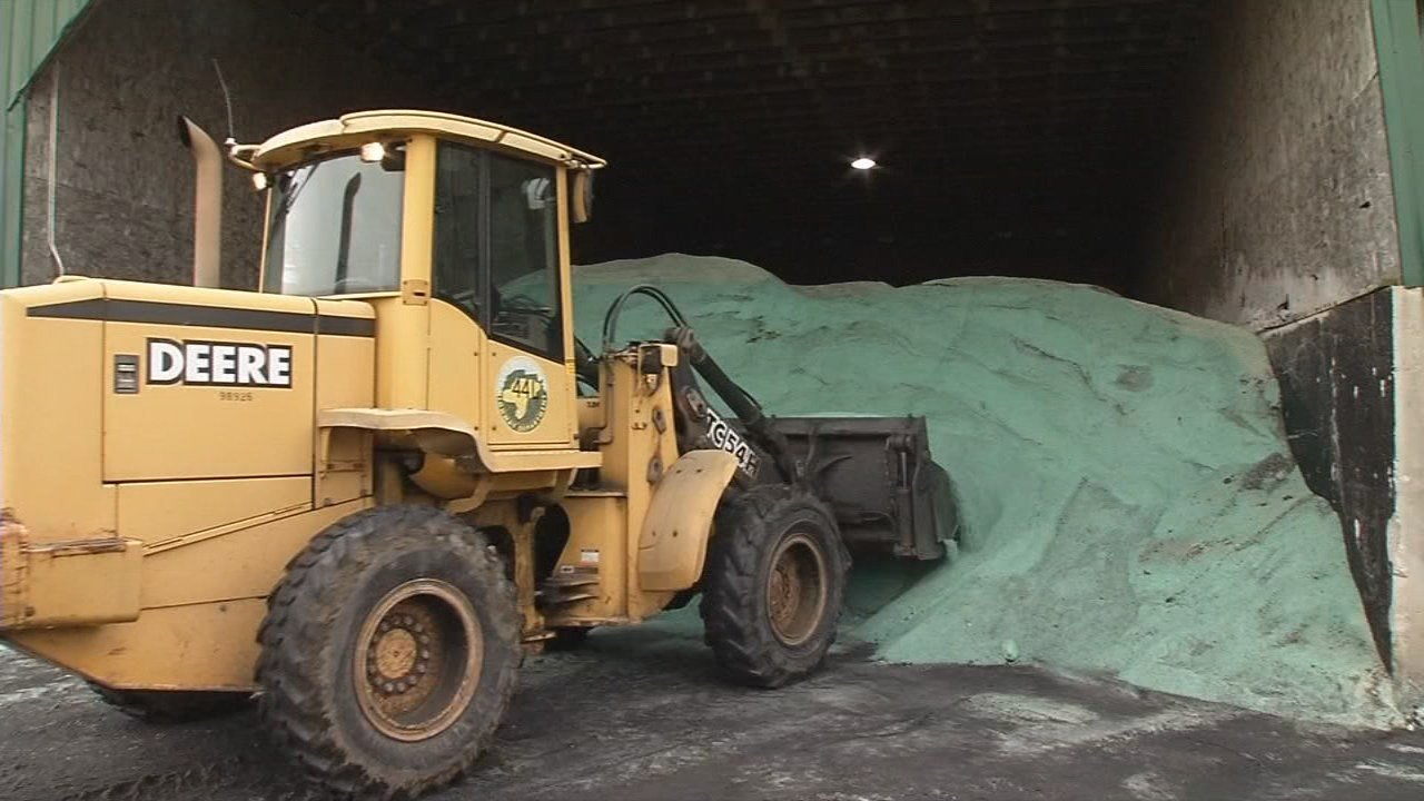 With winter weather headed our way, highway crews are out now prepping the roads, and salt is the first line of defense.