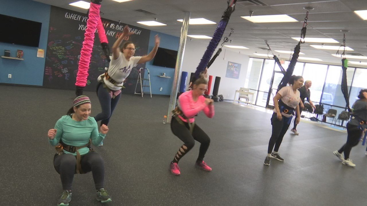 Studio HITT, a newly opened fitness center in Clarksville, incorporates bungee cords into workouts.
