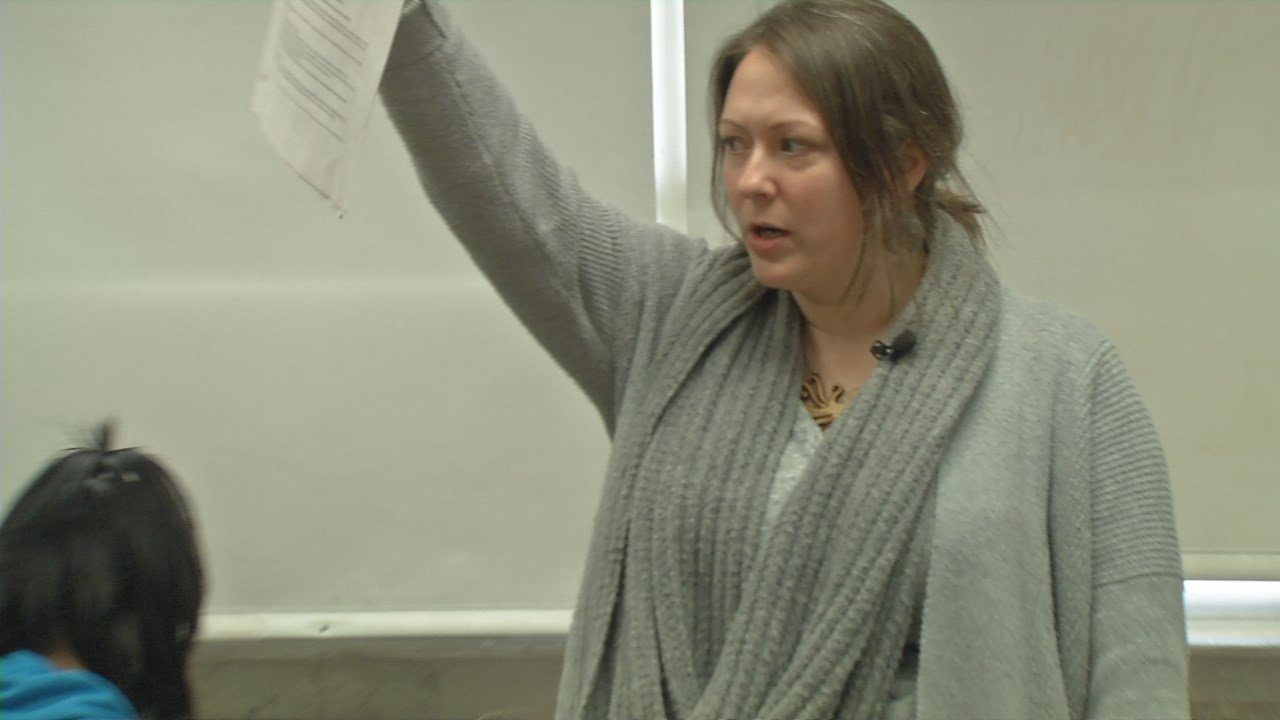 Beth Snowden used to be an attorney, but now she's teaching pre-law to JCPS students.