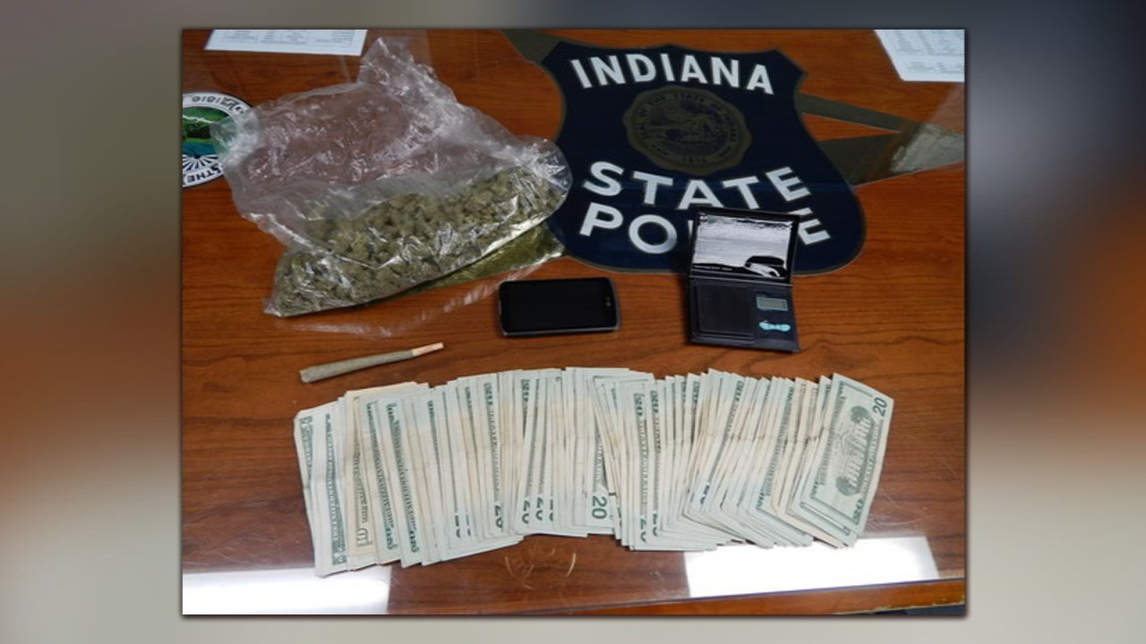 Police found marijuana, money and more during a traffic stop on State Road 66 in Indiana on Feb. 8, 2018.