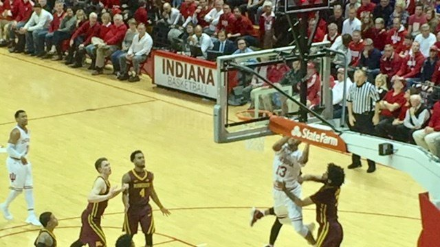 Juwan Morgan scored two of his 19 points as Indiana defeated Minnesota Friday night.