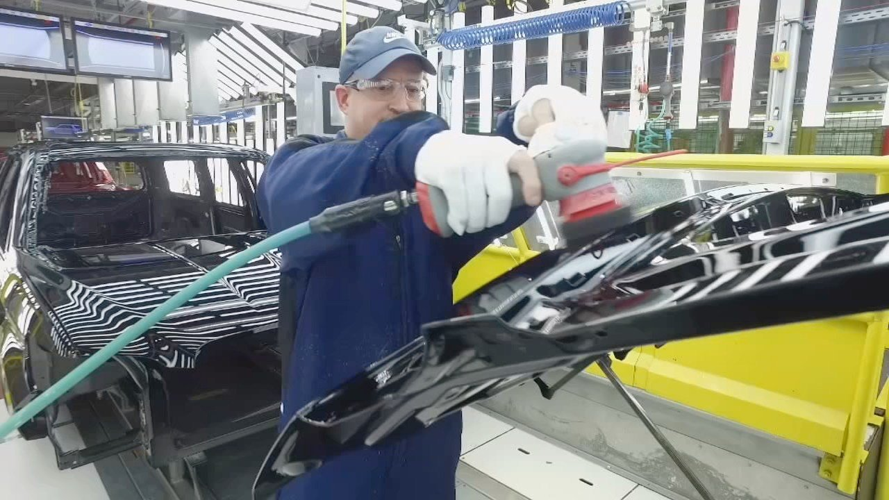 The paint shop at Ford's Kentucky Truck Plant in Louisville (Ford image)