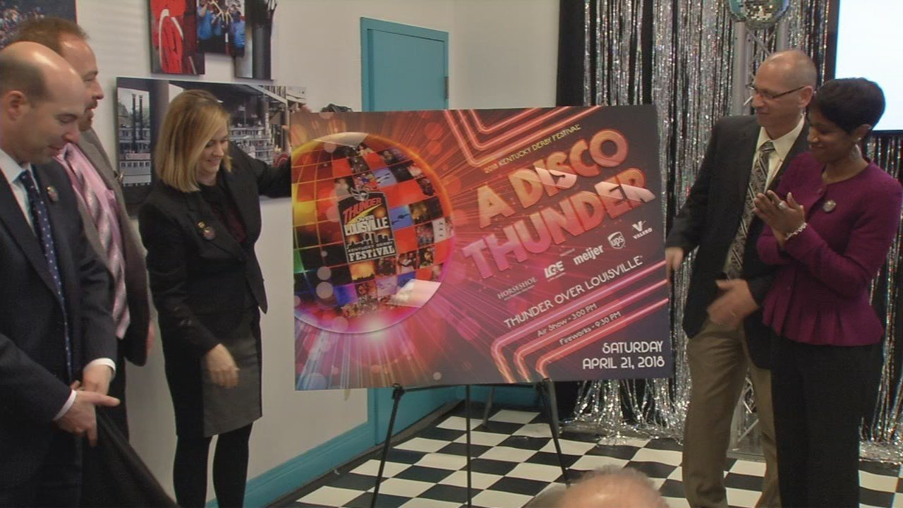 Kentucky Derby Festival officials say this year's Disco theme for Thunder Over Louisville has been a long time coming.