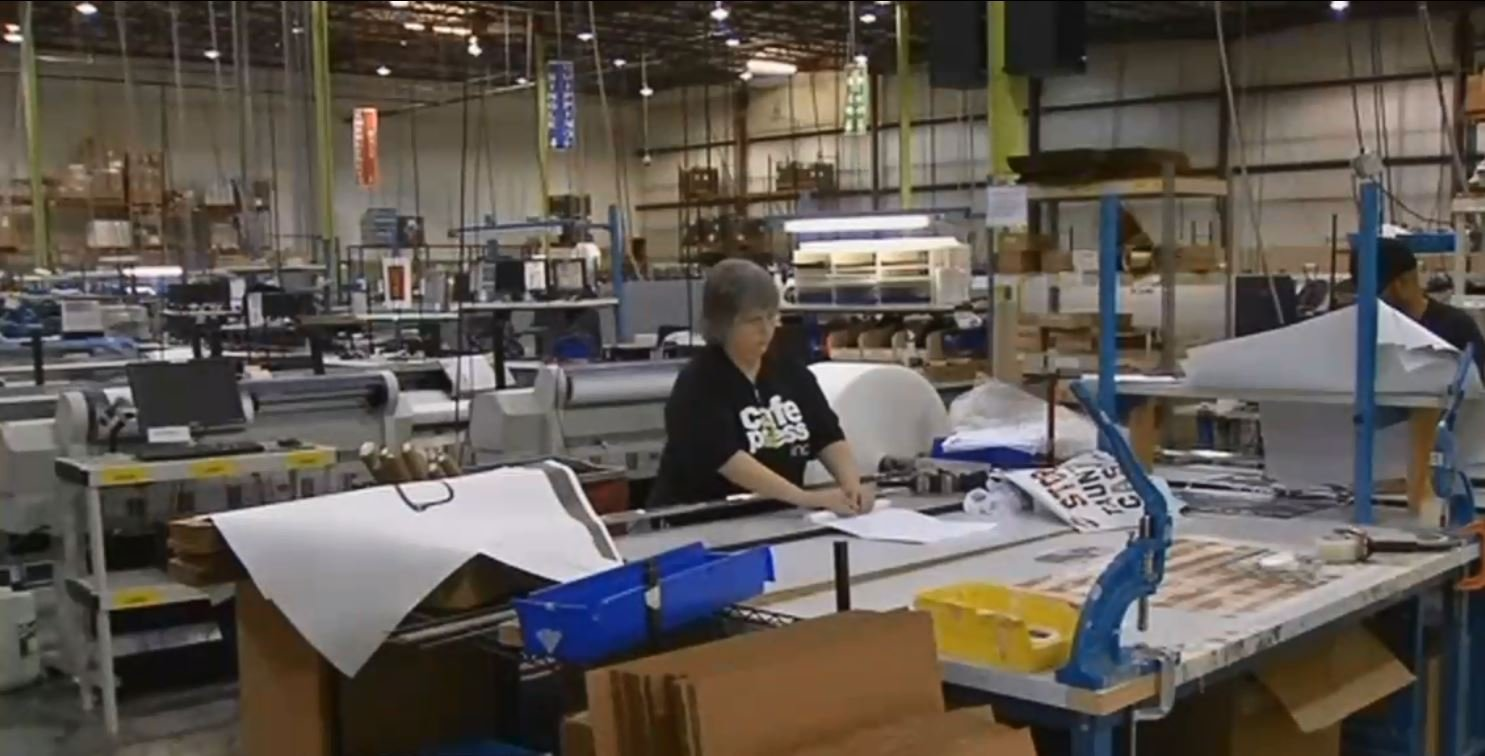 Cafepress' warehouse in Louisville