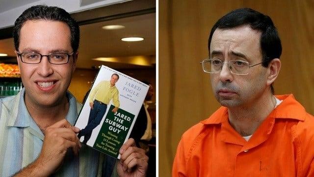 Jared Fogle, left; Larry Nassar, right (Images Courtesy: Fox News)