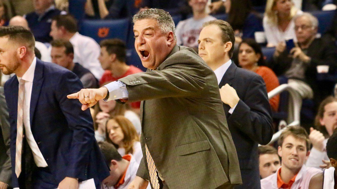 Bruce Pearl has Auburn in first place in the SEC. (WDRB photo by Eric Crawford)