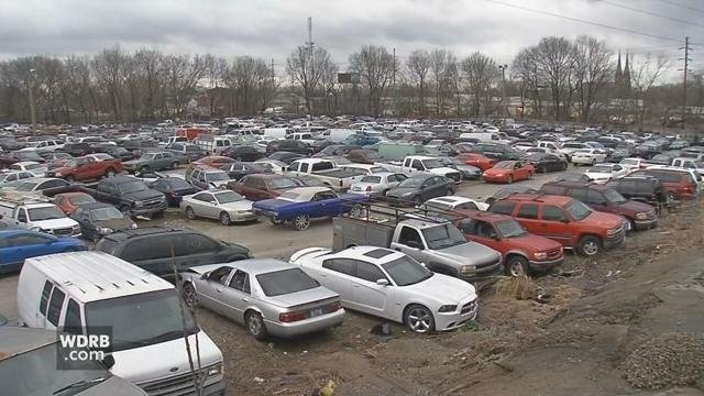 The LMPD impound lot on Frankfort Avenue was built to hold 1,800 vehicles, and is well over capacity with 2,100 vehicles at the site.