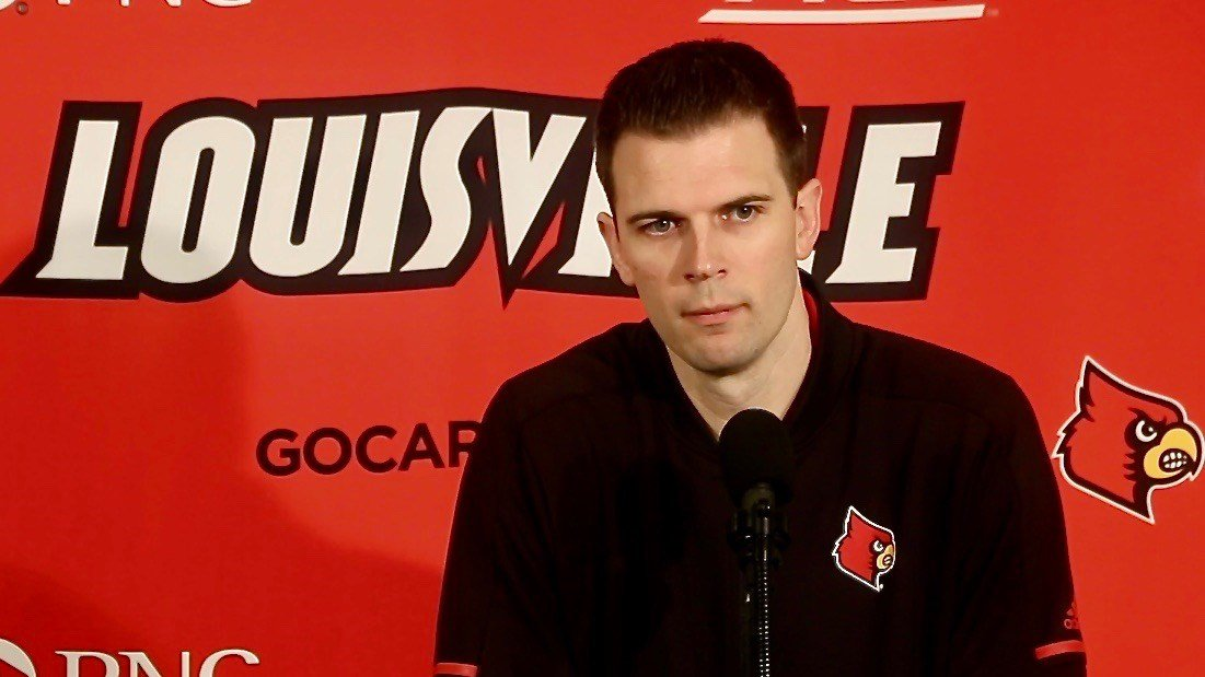 David Padgett at a news conference previewing Saturday's game against North Carolina. (WDRB photo by Eric Crawford)