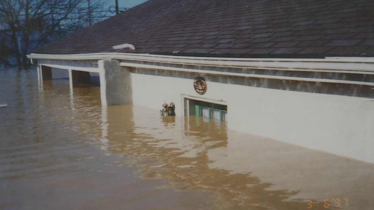 Gower home during 1997 flood