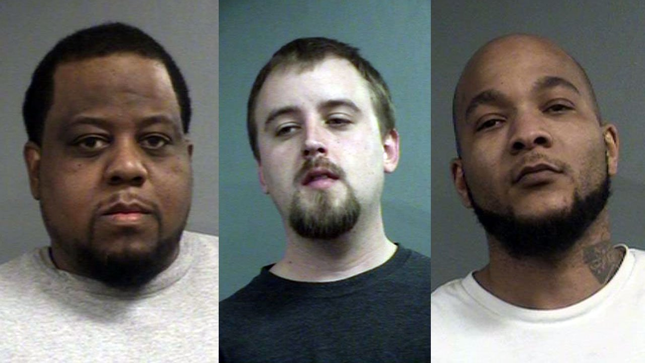 Robert Clemmer, Benjamin Amos and Ronald Morris (Source: Louisville Metro Corrections)