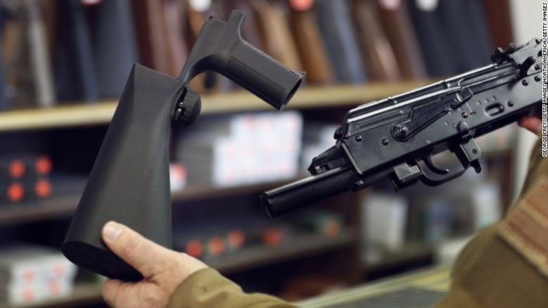 Bump stocks make it easier to fire rounds more quickly.
