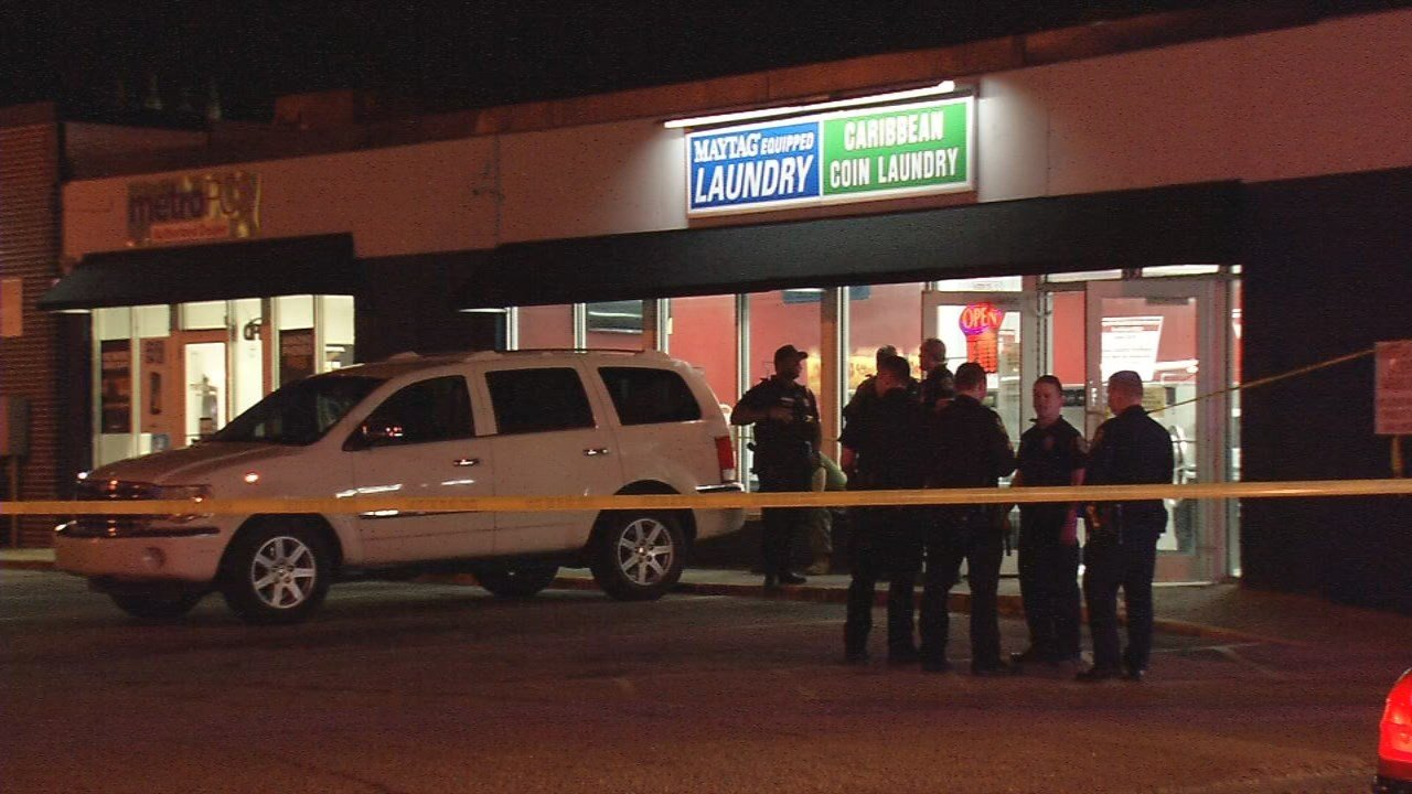 Homicide detectives are investigating after a man was shot several times inside the Caribbean Coin Laundry at 401 W. Oak Street on Feb. 20, 2018.