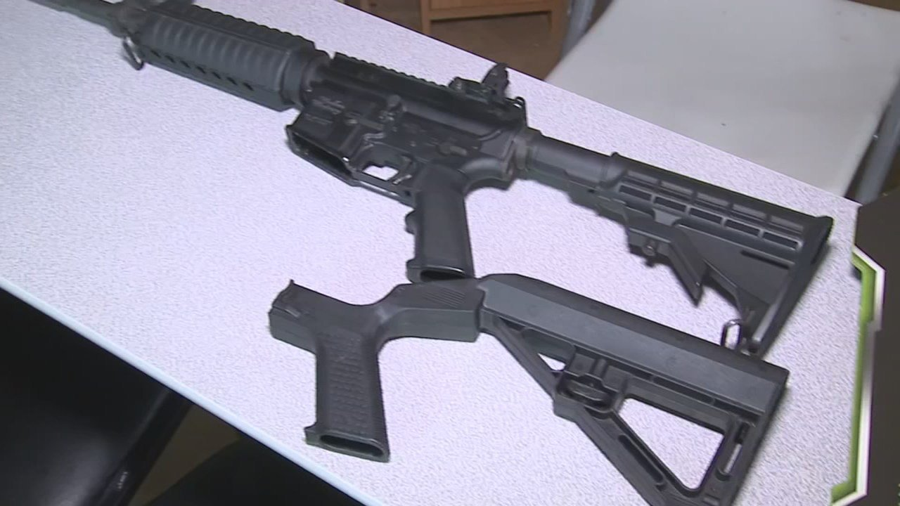 Bump stocks are added to semi-automatic rifles, making it simulate an automatic rifle.