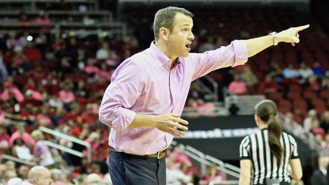 Louisville coach Jeff Walz says he's hoping to kick start his offense this week in practice. (WDRB photo by Eric Crawford)