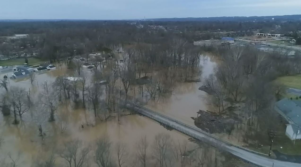 Rising flood waters have closed a number of roads in southern Indiana, including the heavily traveled connector from New Albany to Clarksville, Blackiston Mill Road, which closed on Friday at Silver Creek between the two cities.