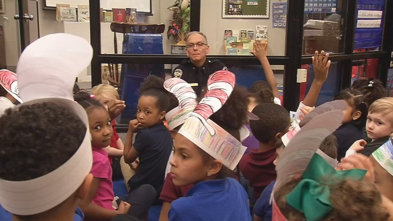 Louisville Police Chief Steve Conrad paid a visit to kindergarten students at Okolona Elementary School, and fielded questions.