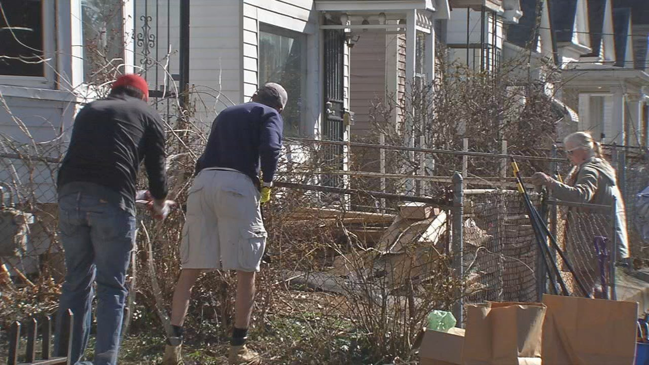 Volunteers got a first-hand look at what neglected homes can look like with some hard work and TLC.