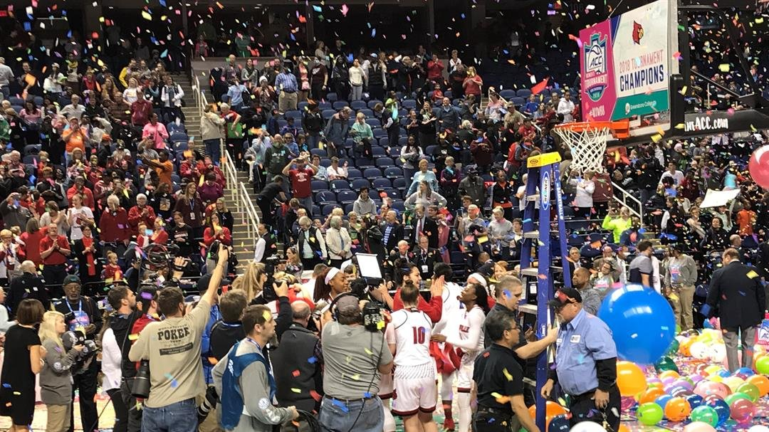 Louisville defeated Notre Dame, 74-72, Sunday to win the ACC Tournament title.