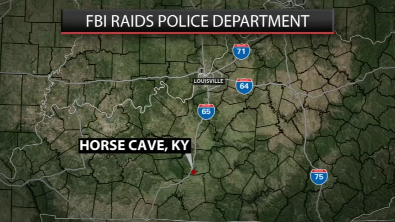 The FBI and Kentucky State Police raided the Horse Cave Police Department on Monday, March 5.
