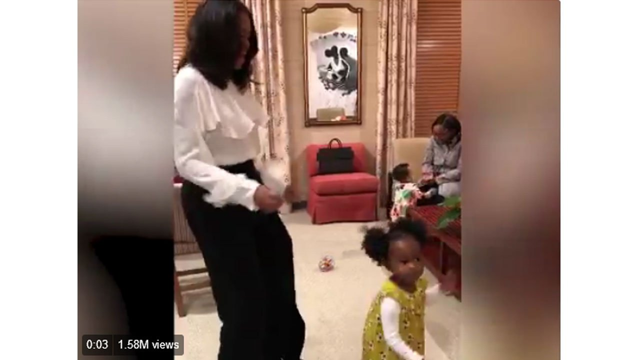On Tuesday, March 6, Michelle Obama tweeted a video of herself dancing with Parker.