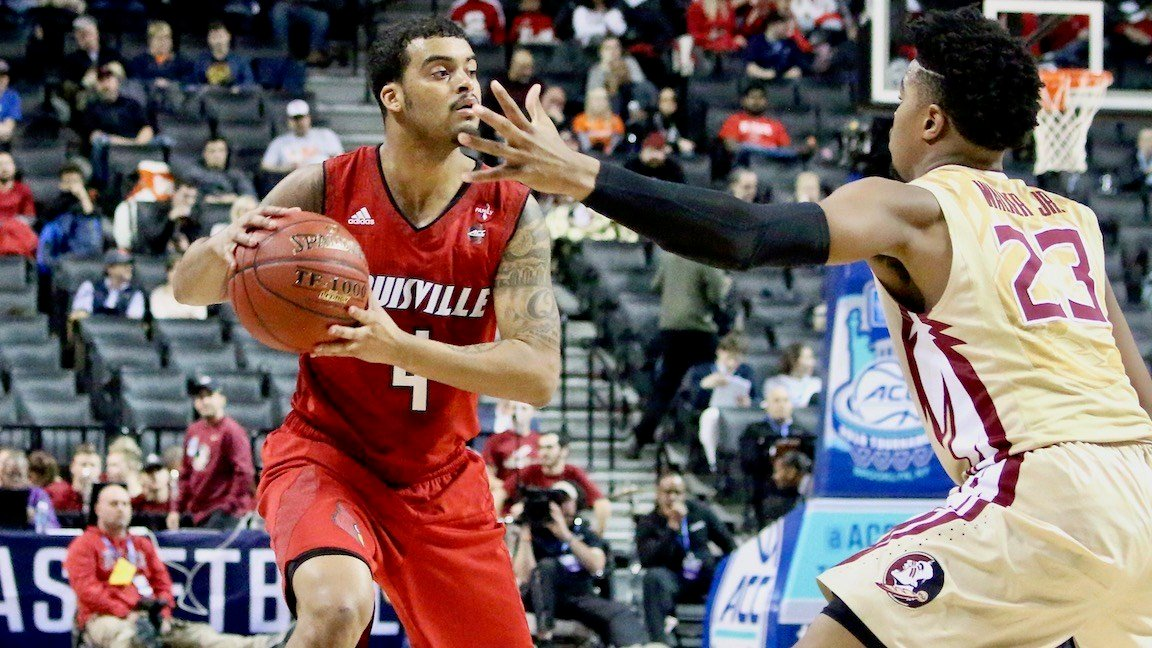 Quentin Snider led Louisville with 19 points. (WDRB photo by Eric Crawford)