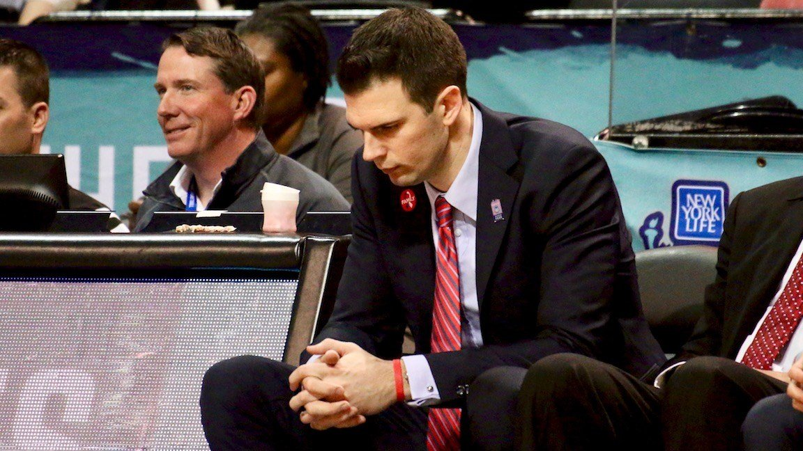 David Padgett before the start of the second half. (WDRB photo by Eric Crawford)